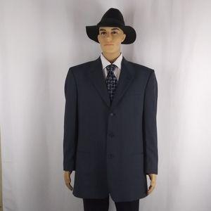 Liz Claiborne navy pinstripe blazer men's size L.